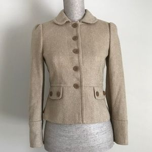 Ann Taylor LOFT Petites Wool Herringbone Jacket
